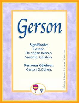 Nombre Gerson