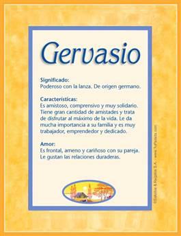 Nombre Gervasio