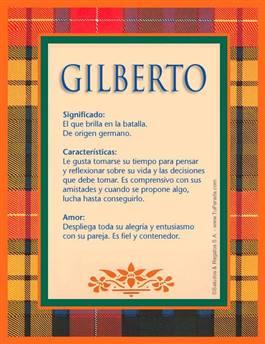 Nombre Gilberto