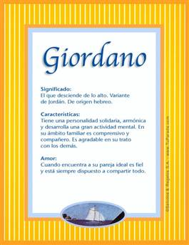 Nombre Giordano