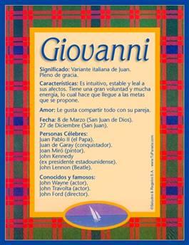 Nombre Giovanni