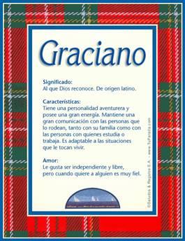 Nombre Graciano