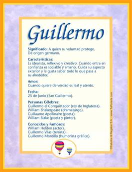 Nombre Guillermo