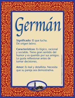 Nombre Germán