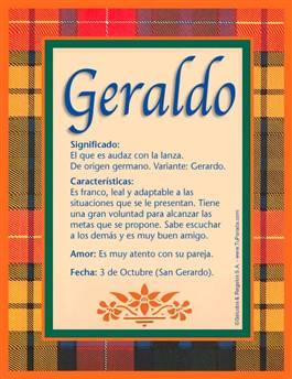 Nombre Geraldo