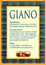 Nombre Giano