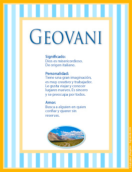 Nombre Geovani