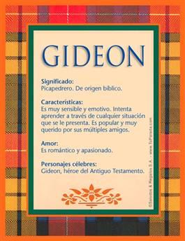 Nombre Gideon