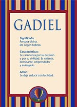 Nombre Gadiel
