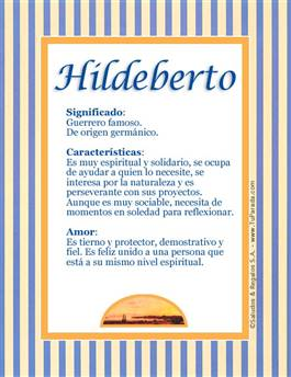 Nombre Hildeberto