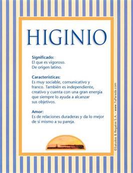 Nombre Higinio