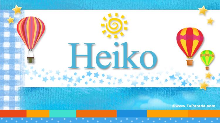 Heiko, imagen de Heiko