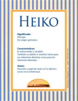 Nombre Heiko