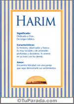 Nombre Harim
