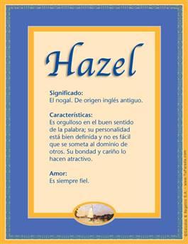 Nombre Hazel