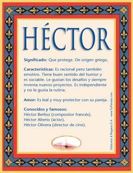Nombre Héctor