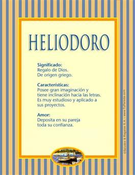 Nombre Heliodoro