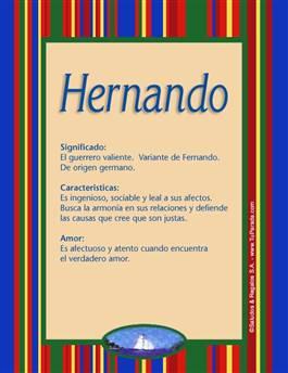 Nombre Hernando