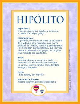 Nombre Hipólito