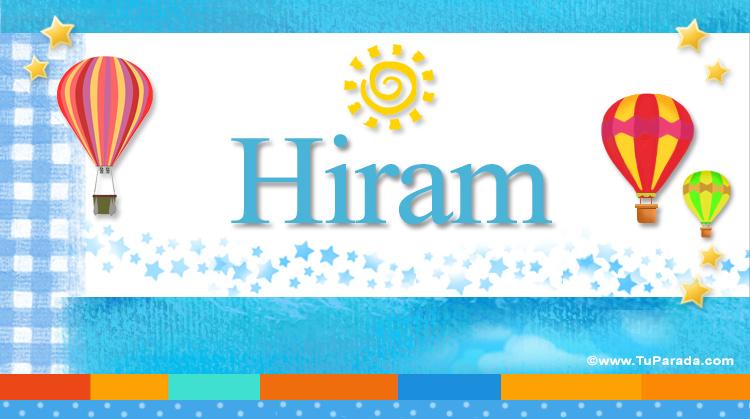 Hiram, imagen de Hiram