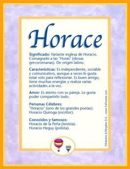 Nombre Horace