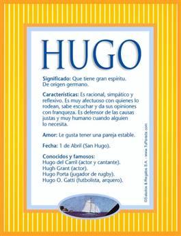 Nombre Hugo
