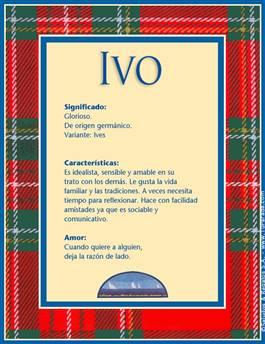 Nombre Ivo