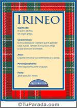 Nombre Irineo