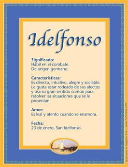 Nombre Idelfonso