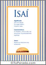 Nombre Isaí