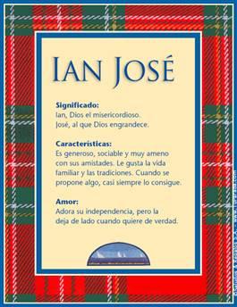 Nombre Ian José