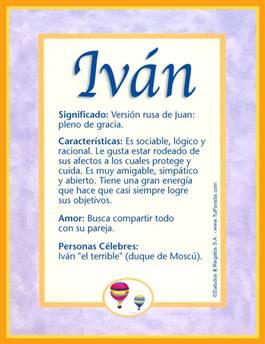 Nombre Iván