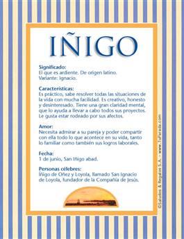 Nombre Iñigo