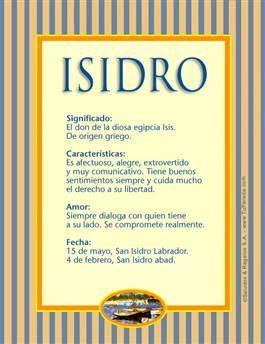 Nombre Isidro