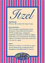 Nombre Itzel