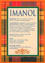 Nombre Imanol
