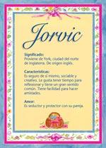 Nombre Jorvic