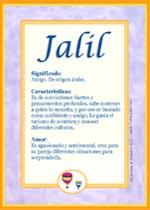 Nombre Jalil