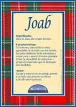 Nombre Joab