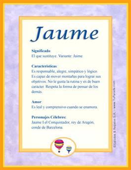 Nombre Jaume