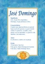 Nombre José Domingo