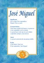 Nombre José Miguel
