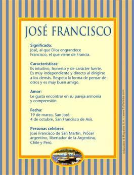 Nombre José Francisco