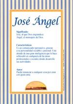 José ángel Significado Del Nombre José ángel Nombres Y Significados