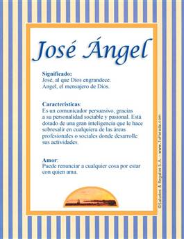 Nombre José Ángel