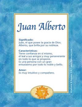Nombre Juan Alberto