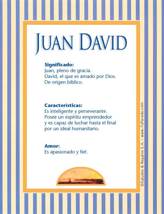 Juan David J, tarjetas