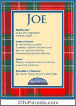 Nombre Joe