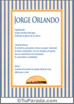 Nombre Jorge Orlando