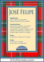 Nombre José Felipe